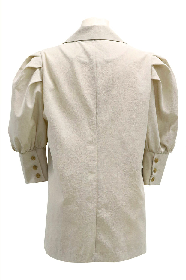 Ariel Puff Sleeve Linen Jacket