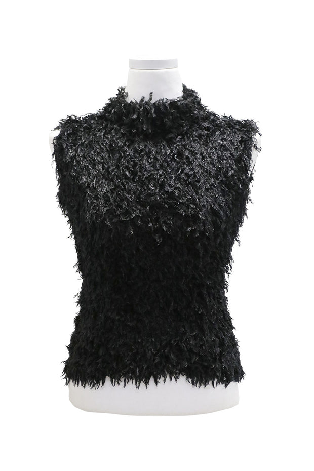 storets.com Nevaeh Fluffy Fringe Sleeveless Top