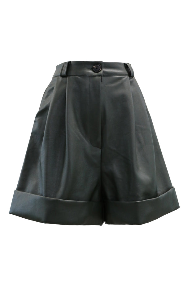 Dallas Cuffed Pleather Shorts