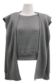 storets.com Taylor Mottled Knit top And Shawl Set