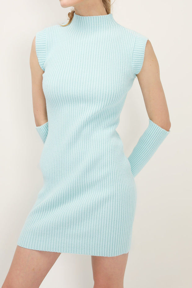 storets.com Evie Sleeveless Dress And Arm Warmer Set