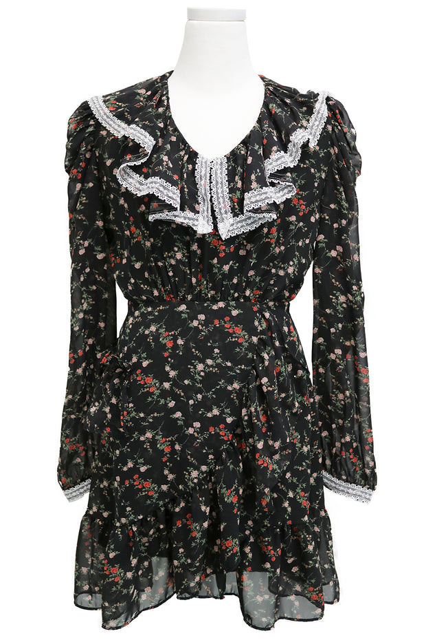 Emily Floral Ruffle Dress