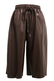 Nevaeh Pleather Knee Length Pants
