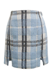 Melody Fuzzy Plaid Skirt