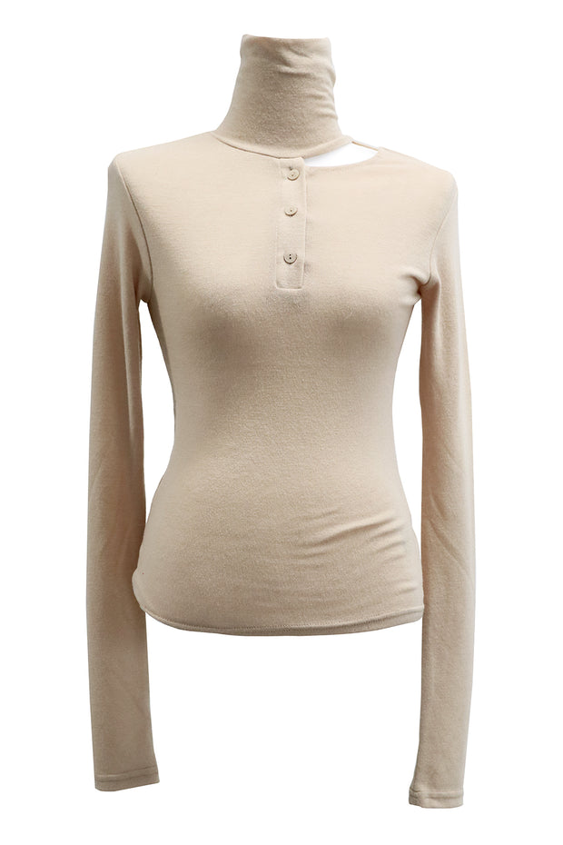 Kinsley Cutout Detail Fitted Top