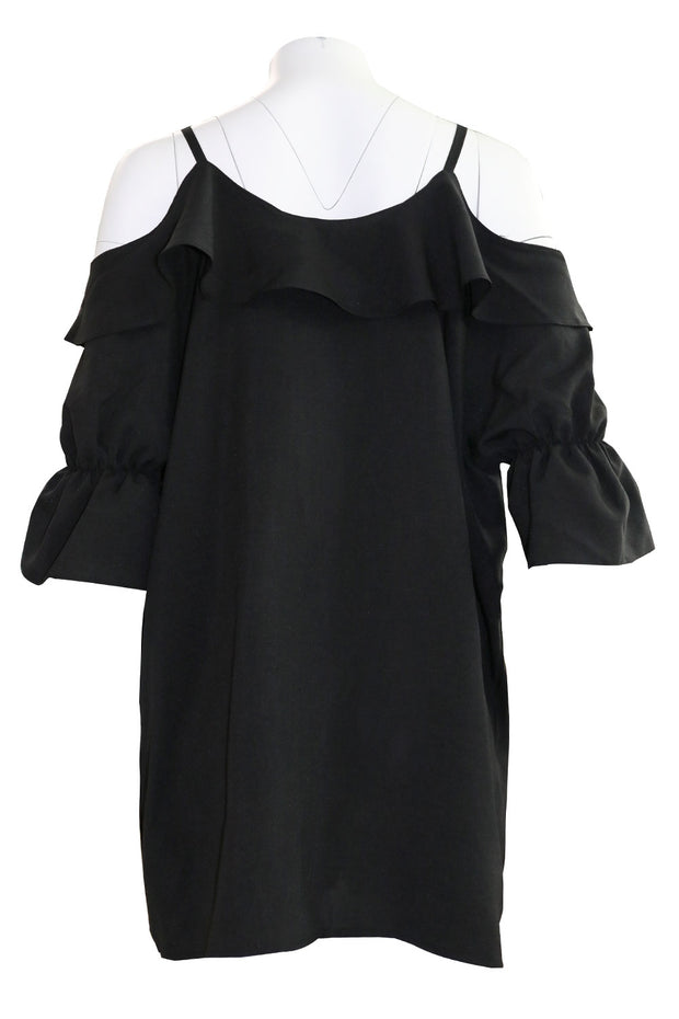 Kamryn Cold Shoulder Ruffle Dress