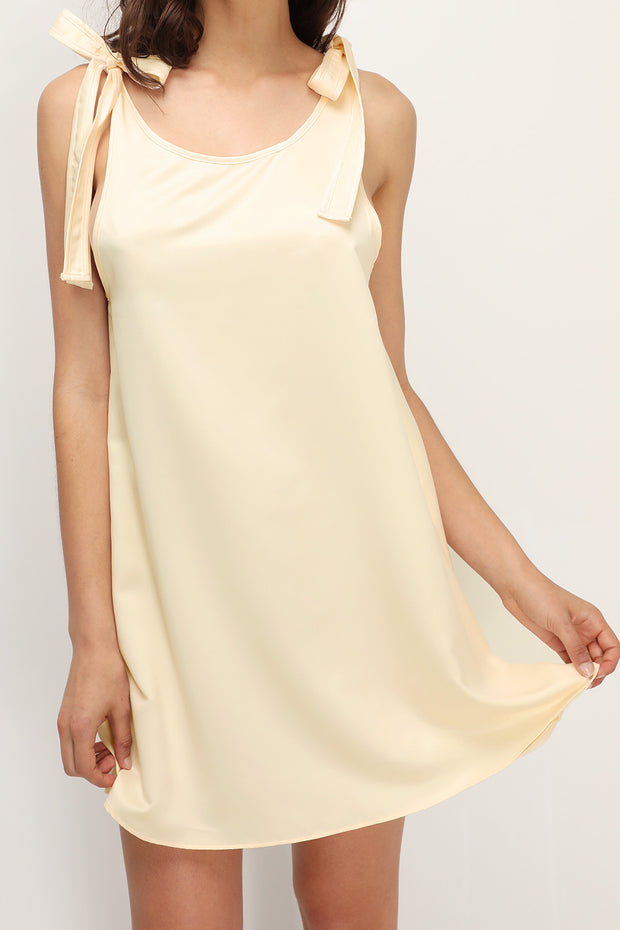 Kai Flared Satin Dress