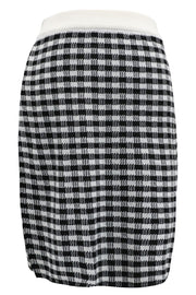Valerie Checked Knitted Skirt