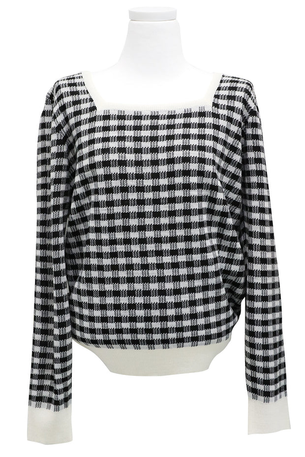 Valerie Checked Knitted Jumper