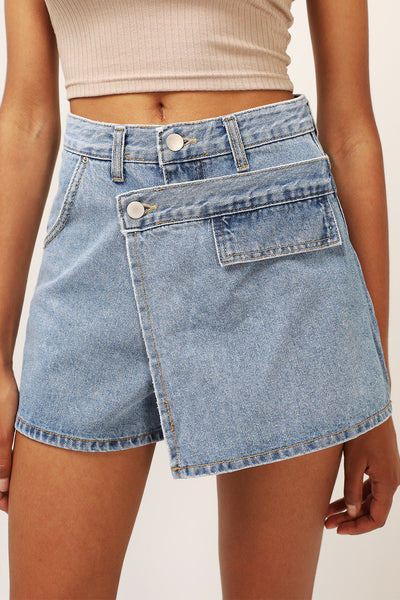 storets.com Luna Wrapped Denim Skort