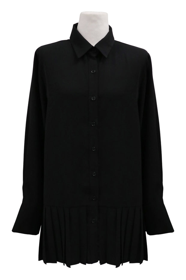 Reina Pleated Hem Shirt