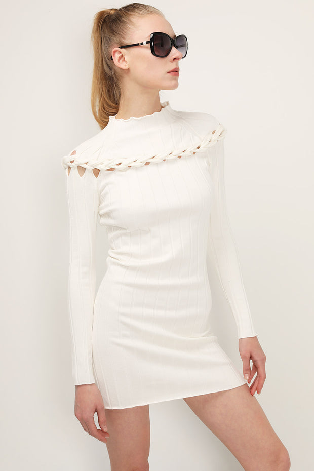 storets.com Ella Braid Detail Knit Dress