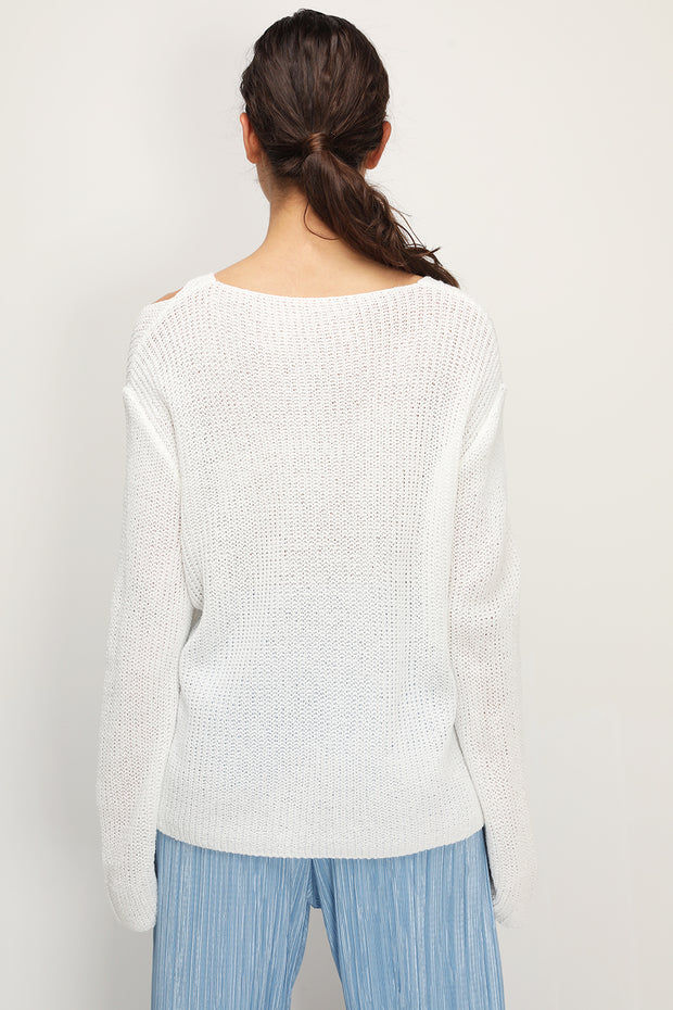 storets.com Promise Cutout V-neck Sweater
