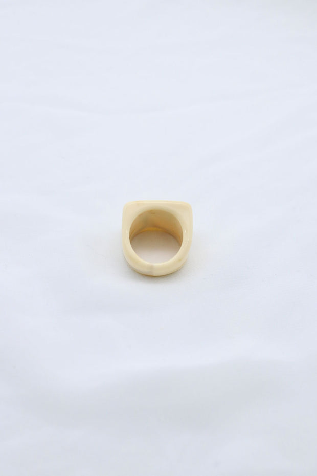 Square Top Wood Ring