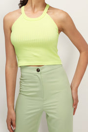 storets.com Zuri Ribbed Halter Neck Top