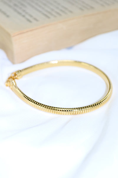 Ribbed Slip-On Bangle