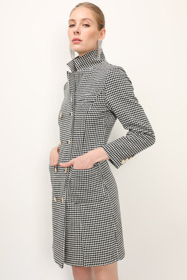 storets.com Julia Houndstooth Coat Dress