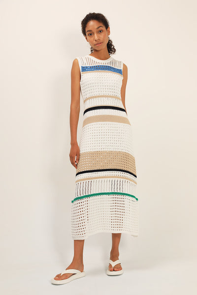 Celine Stripe Knitted Dress