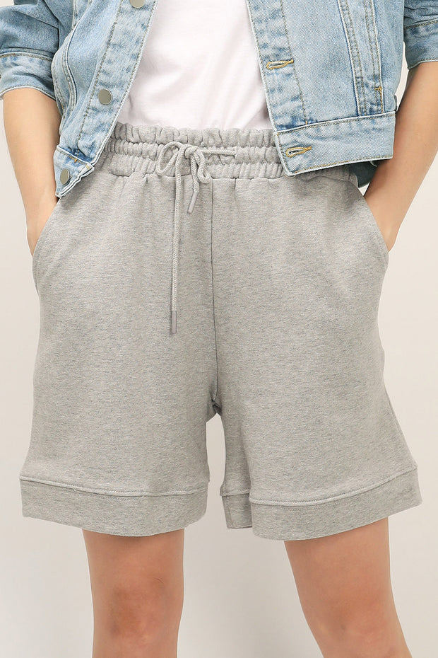 storets.com Vera Drawstring Waist Sweat Shorts