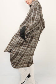 storets.com Harlow Contrast Cuff Plaid Shacket