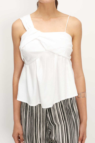 storets.com Ellison Ruched Sleeveless Top
