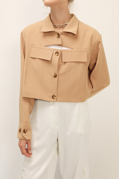 storets.com Emily Slash Detail Cropped Jacket