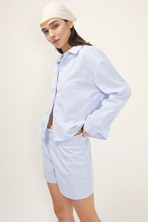storets.com Frank Striped Shirt And Shorts Set