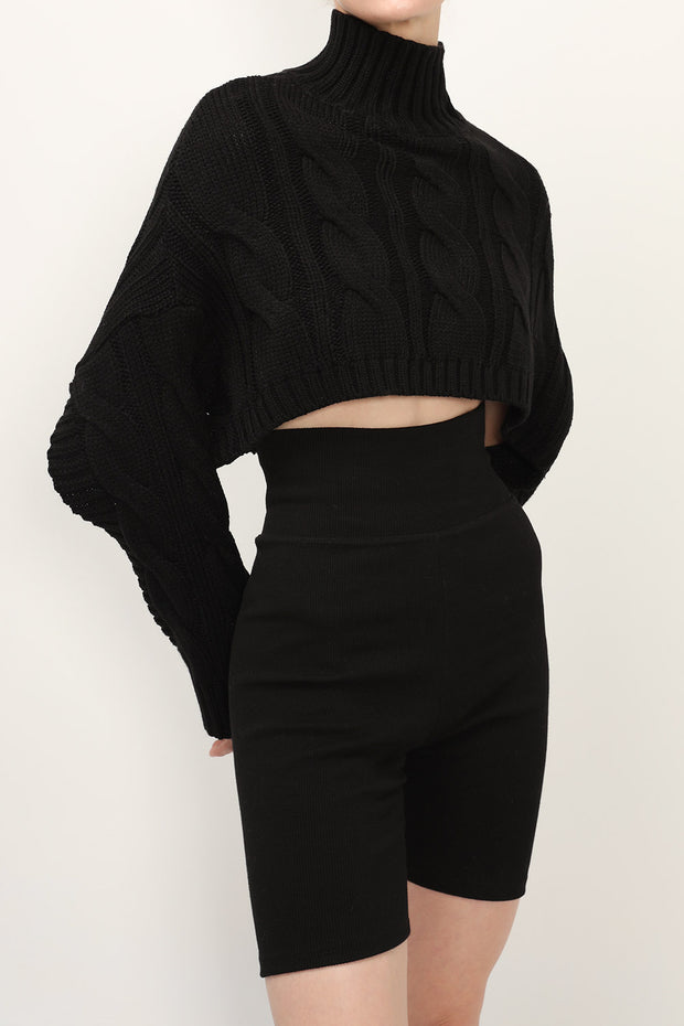 storets.com Hayley Cropped Poncho Sweater