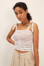 Jolene Shirred Lace Top