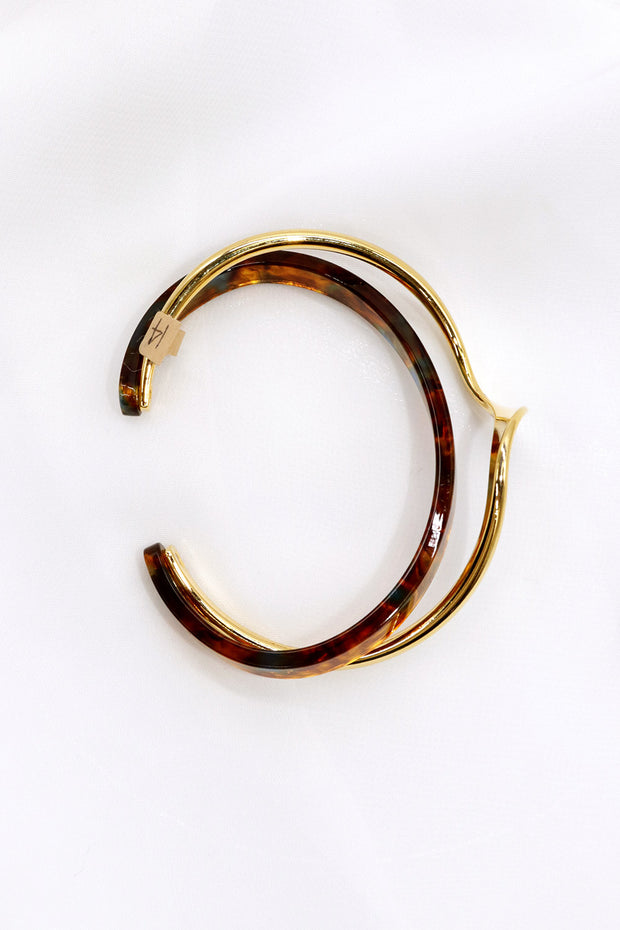 storets.com Double Layered Leopard Bangle