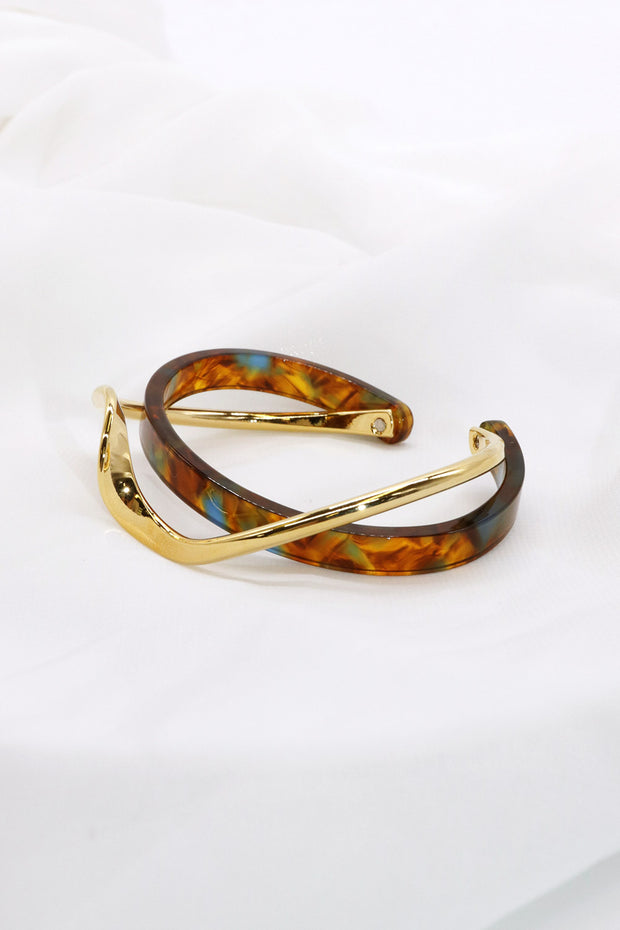 Double Layered Leopard Bangle