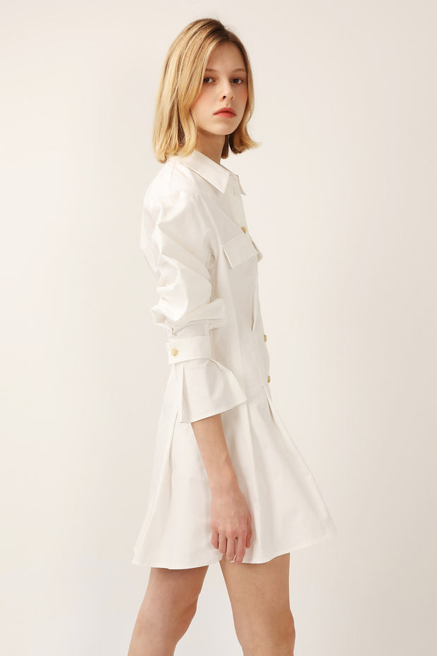 Amelia Pintuck Shirt Dress