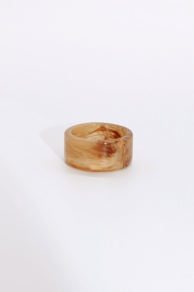 Wide Marble Ring