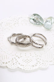 Multi Shape Ring 3-Piece Set