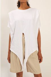 Emily Structured Tie Waist T-Shirt