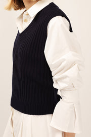 Blakely Ribbed Knit Crop Vest