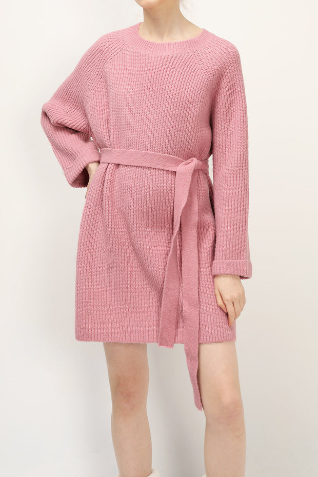 Joyce Belted Knit Dress