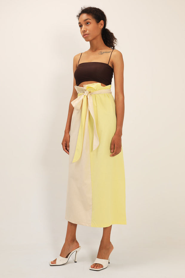 storets.com Scarlett Color Block Belted Skirt