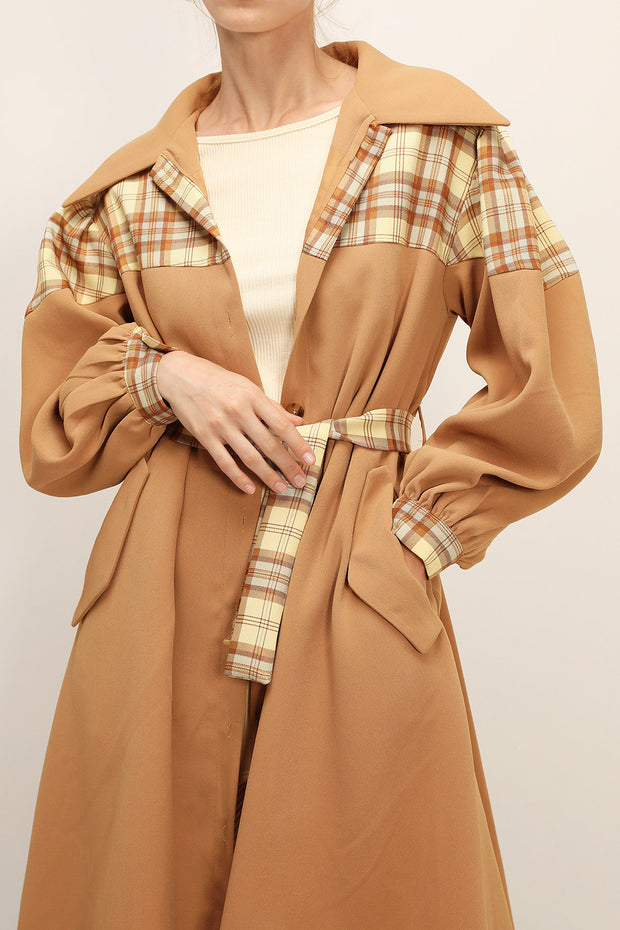 storets.com Sydney Plaid Block Coat w/Belt