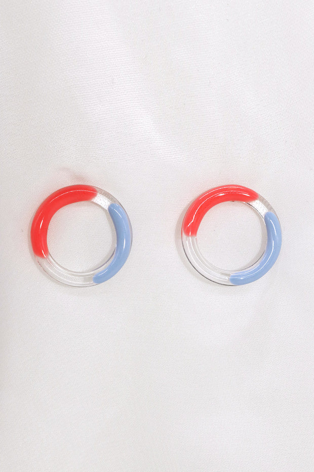 Acrylic Circle Earrings