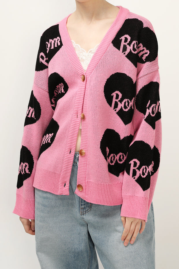 Cindy Oversized Heart Cardigan