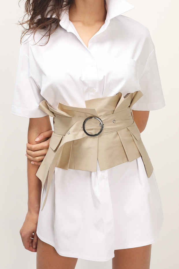 storets.com Pleated Wrap Buckle Belt