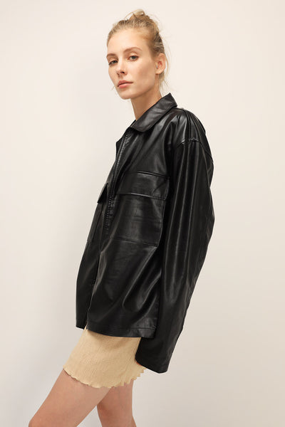 storets.com Aspen Oversized Pleather Jacket