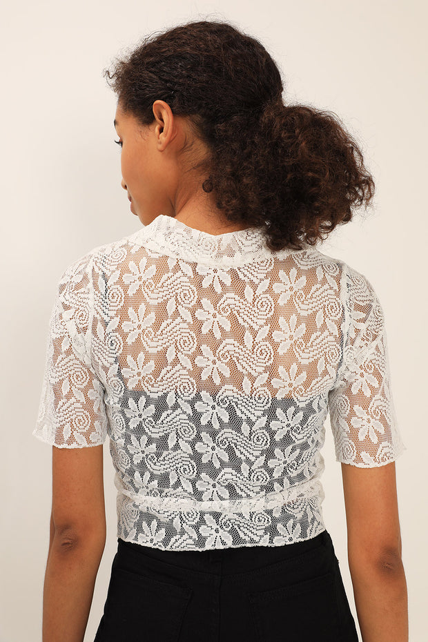 Emma Embroidered Lace Shirt