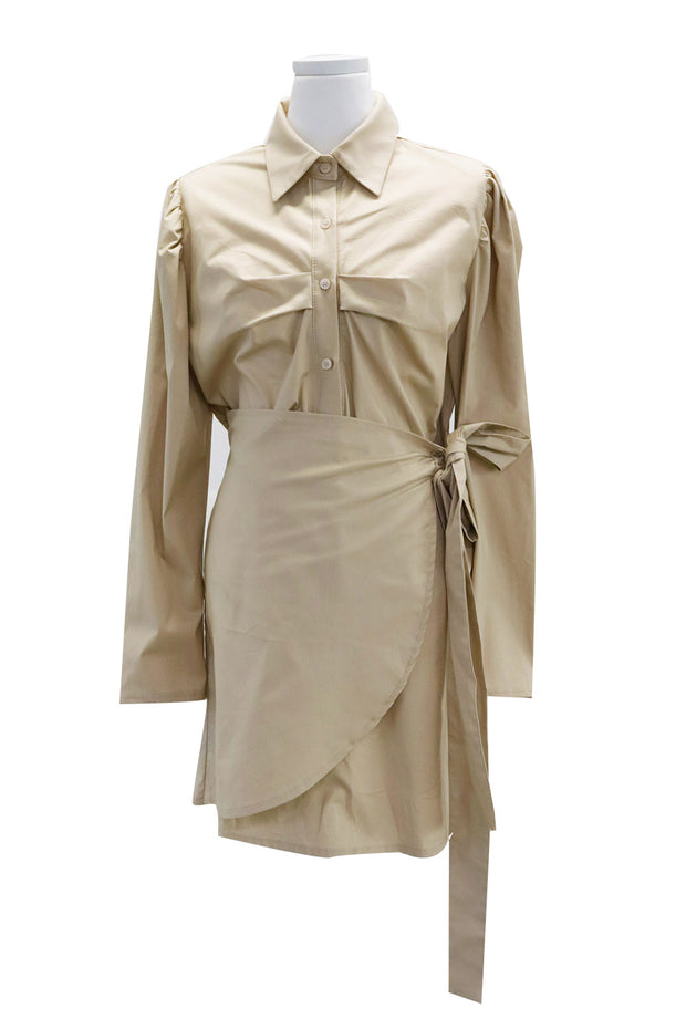 Carmen Wrap Shirt Dress