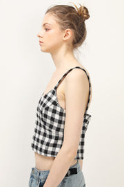 storets.com Harlow Gingham Bustier