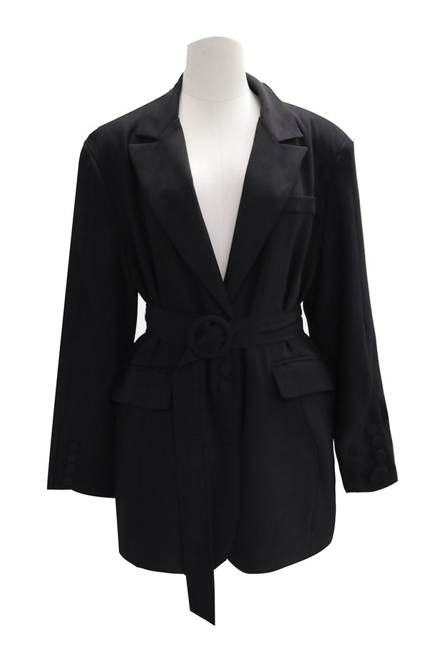 Khloe Boyfriend Fit Blazer w/Belt