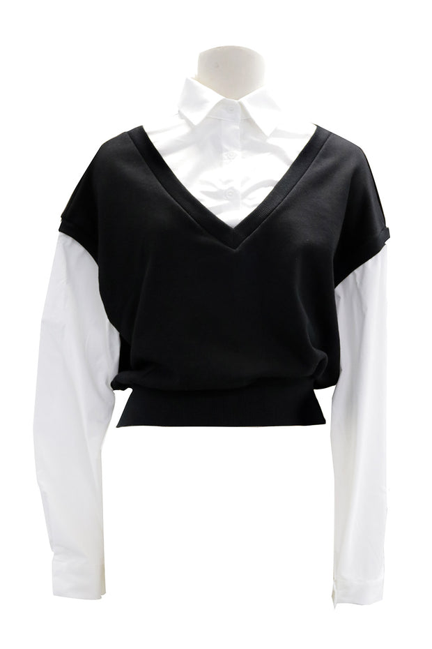 Kendall Sweat Vest Combo Shirt