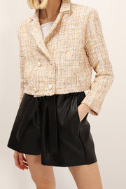 Grace Pearl Button Tweed Jacket