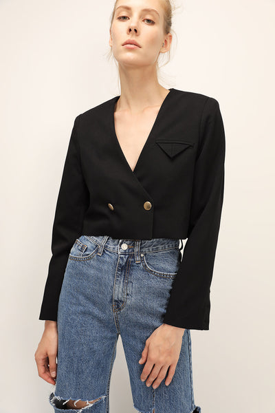 storets.com Ariana Collarless Cropped Jacket